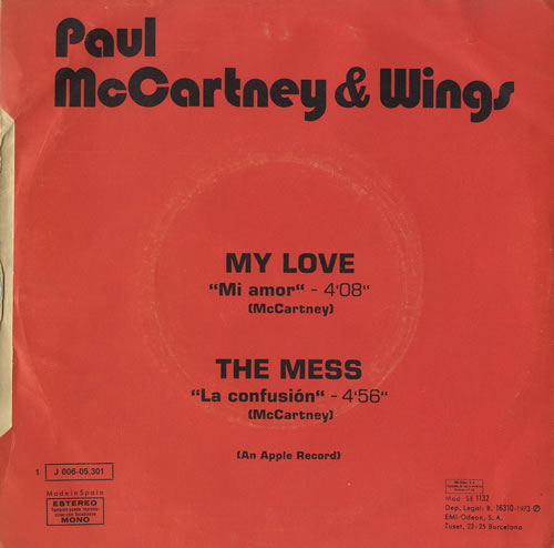 my love paul mccartney & wings