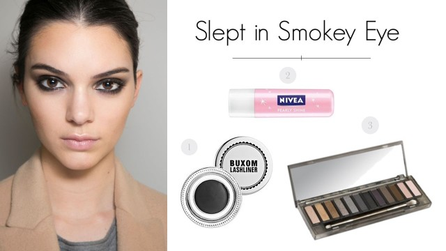 slept in smokey eye