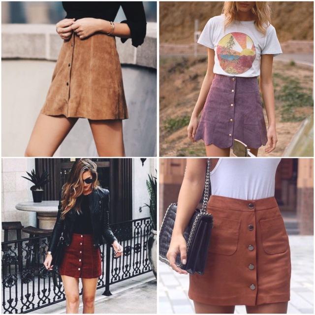Button-Front-Skirt