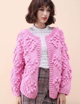 chic wish-knit-your-love-cardigan-hot-pink